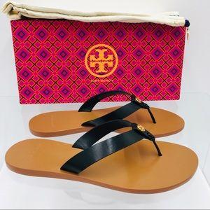 Tory Burch Manon Thong Sandals Perfect Black